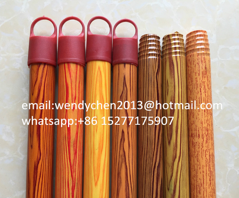 mop logs wooden round stick coating with threaded