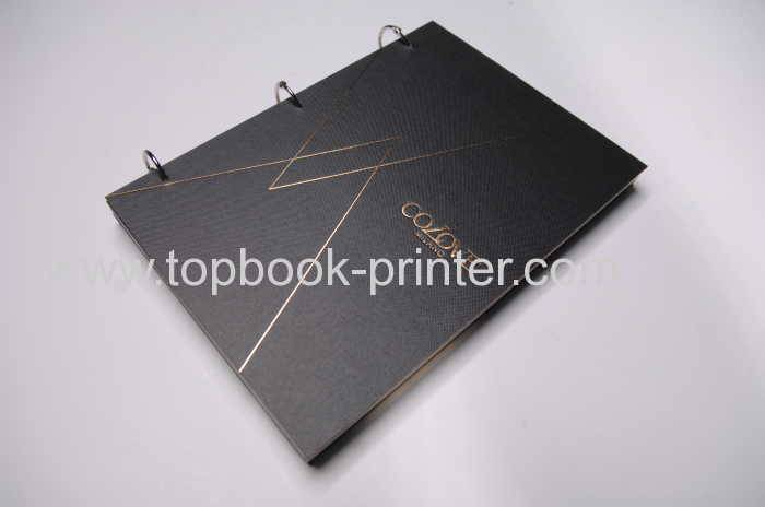 Print coil-bound or wire-binding hardcover books