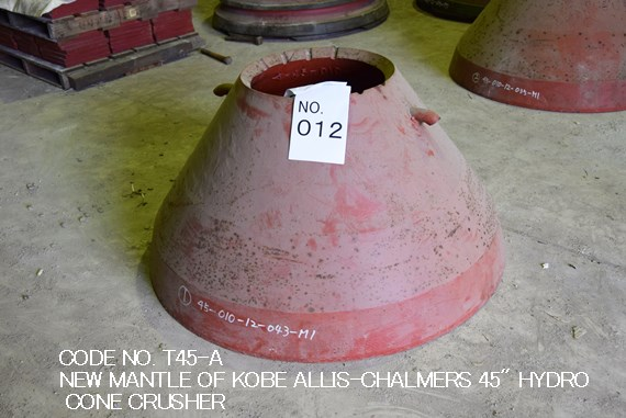 "NEW MANTLE OF KOBE ALLIS-CHALMERS 45"" HYDRO CONE CRUSHER CODE NO. T45-A"