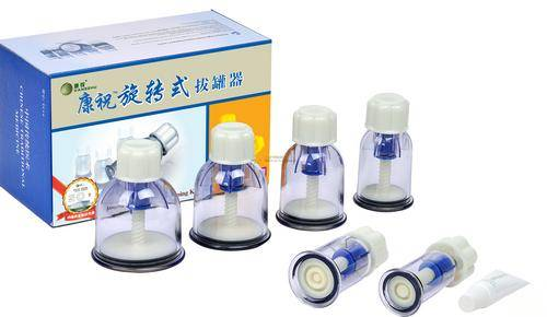 KangZhu Twist Vacuum Cupping Device 6 Cups Rotary Cupping Set