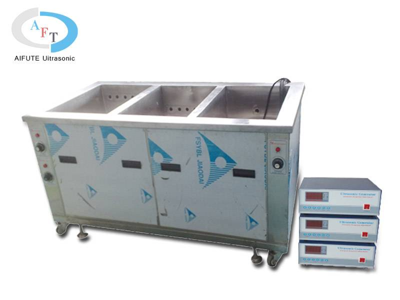 Three grooves ultrasonic cleaning machine