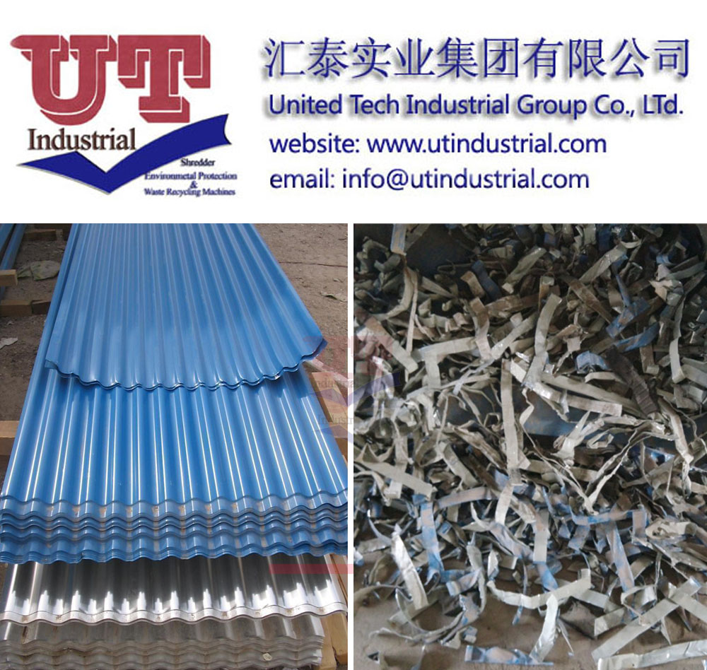 steel shredder, metal crusher, double shaft shredder