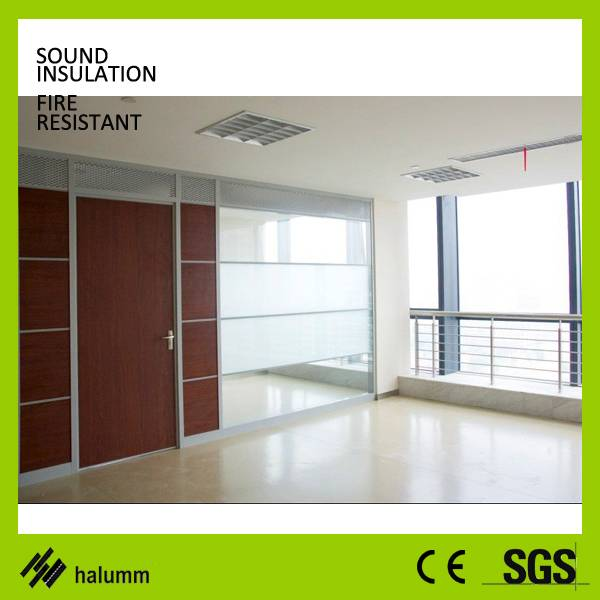 Double glass office partition partition divider wall