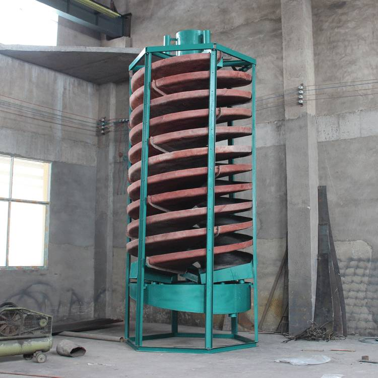 gravity spiral chute high recovery high performance concentrate  for iron ore tin tungsten tantalum-