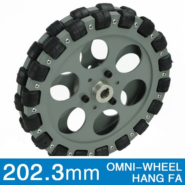 203.2mm double aluminum hub omni wheel robot kit