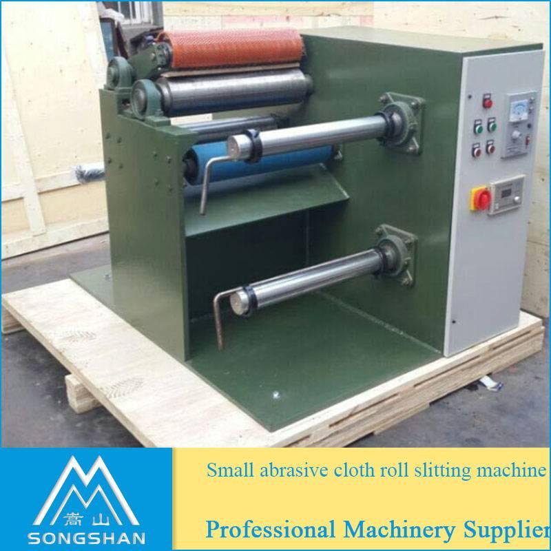 small abrasive cloth roll slitting machine