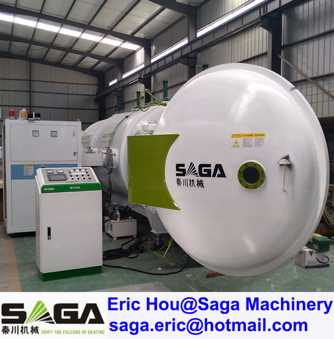High Frequency Thermo Wood Machine HF Timber Drying Vacuum Chamber