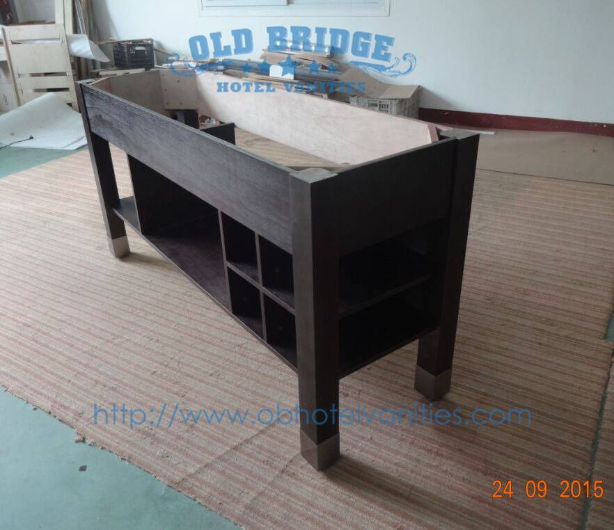 wooden  hotel  vanity base