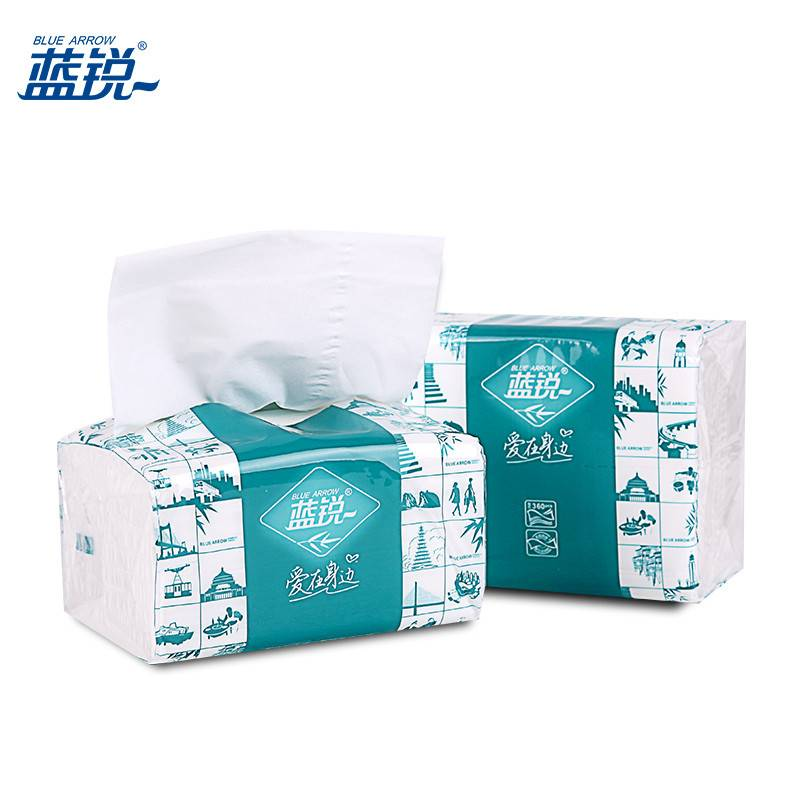 2016 Hot selling Economic 2-Ply Soft Pack Mini Facial Tissues/Pop-up To Go Pack Tissue Paper