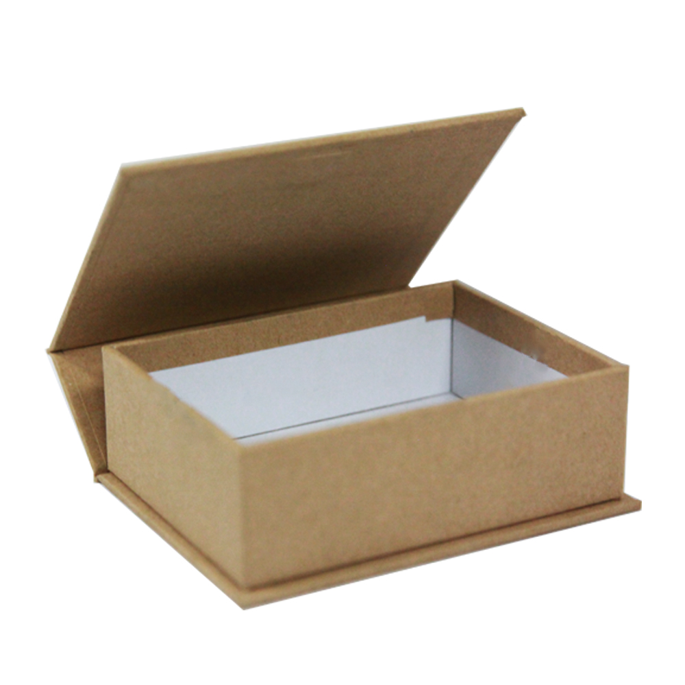 Custom recyclable durable kraft paper gift box package with magnet closure