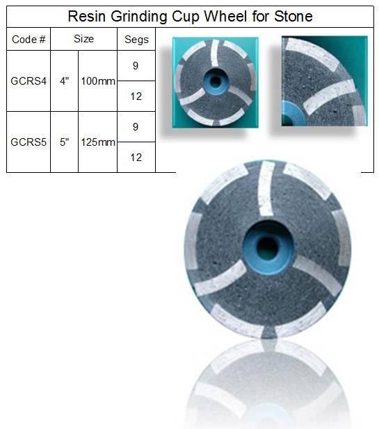 Diamond Resin Grinding Cup Wheel ~ Resin Filled Segment