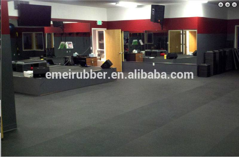 Sports play rubber flooring