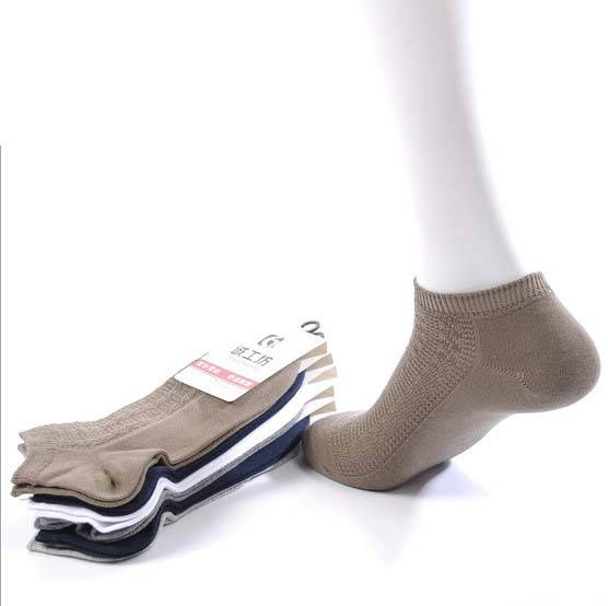 Wholesale Sweat-absorbent Men's Ankle Cotton Socks