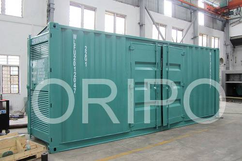 600~1500KVA container type silent diesel generator set with Cummins engine