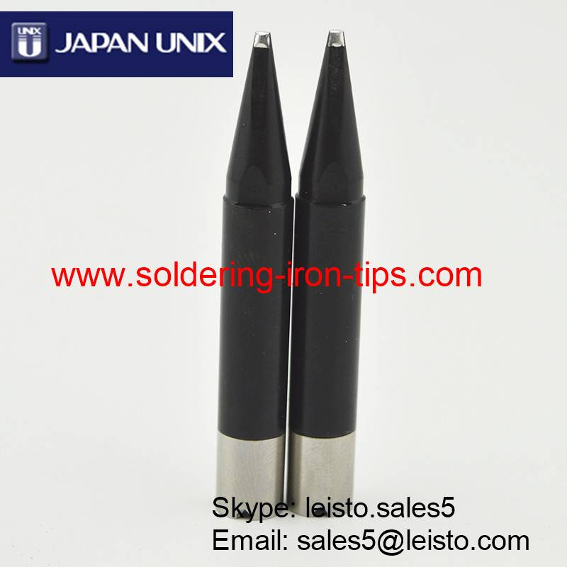 Lead-free Black chromium Janpan UNIX P25D-R soldering iron tips for Japan Unix soldering robot, Unix