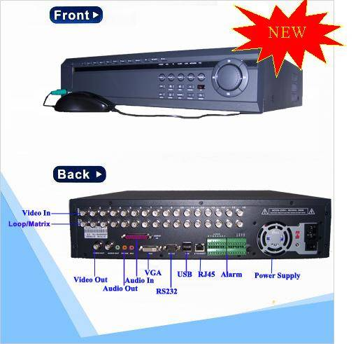 H.264 16 Cameras /CCTV System Kits(16Cams DVR Surveillance System)