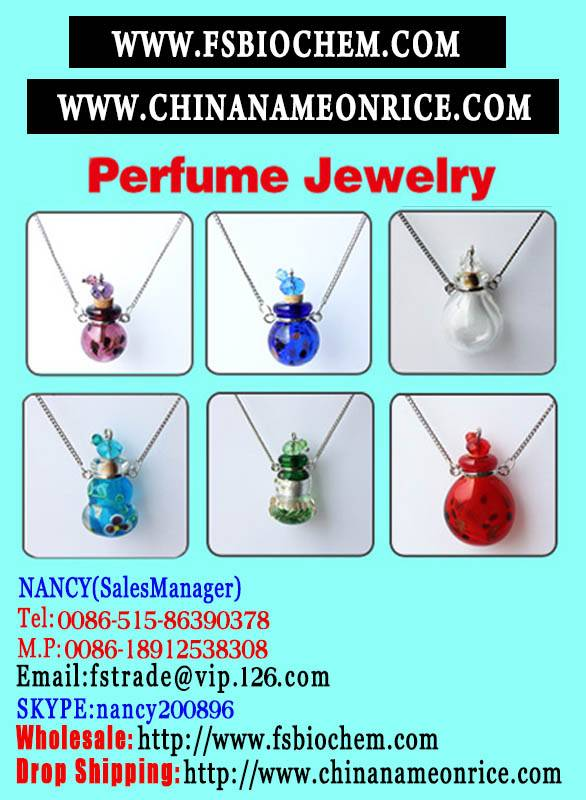 Murano Glass Essential Oil Bottle Pendant Necklace