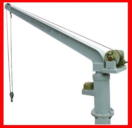 Manual operation electric or hydraulic provision crane