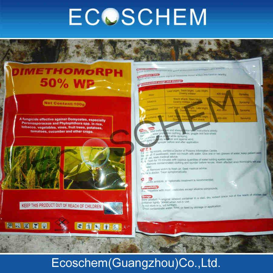 Agrochemicals fungicide Dimethomorph 50% WDG, 50% WP for crop protection