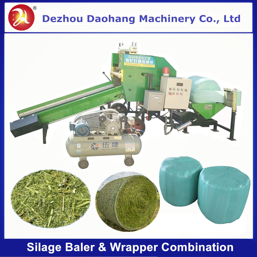Automatic Silage Baler and Wrapper Combination Machine