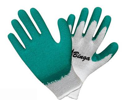 Latex Coated 13G High Grade Polyster Shell Safety Glove