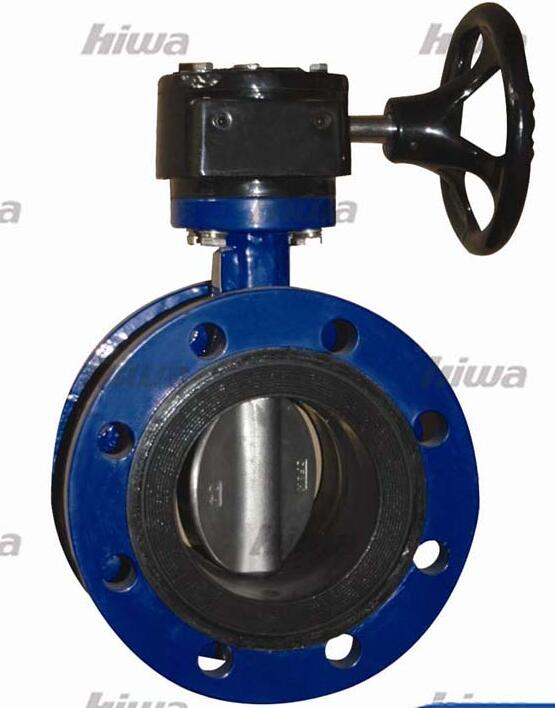 Center line double flanged butterfly valve