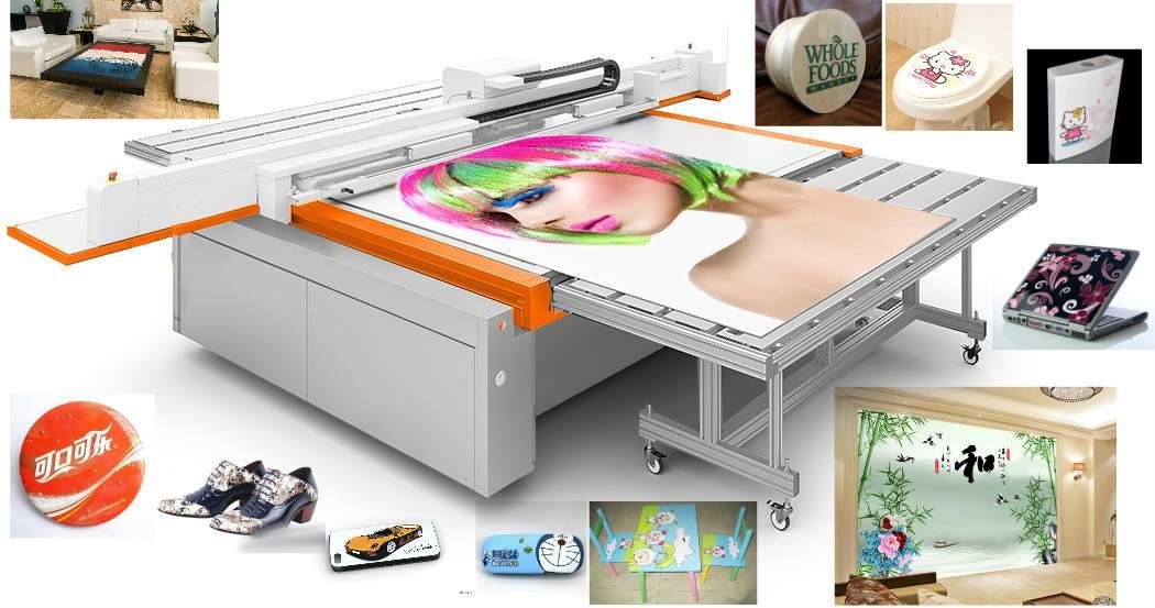 High defenation printing uv flatbed printer