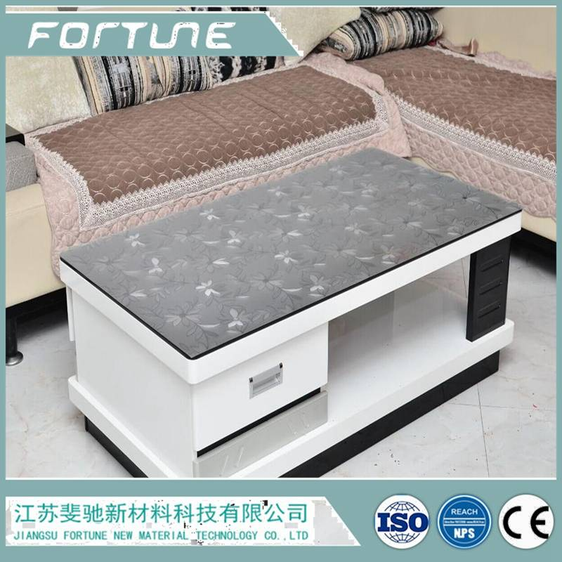 fortune brand table cloth  laminated soft glass
