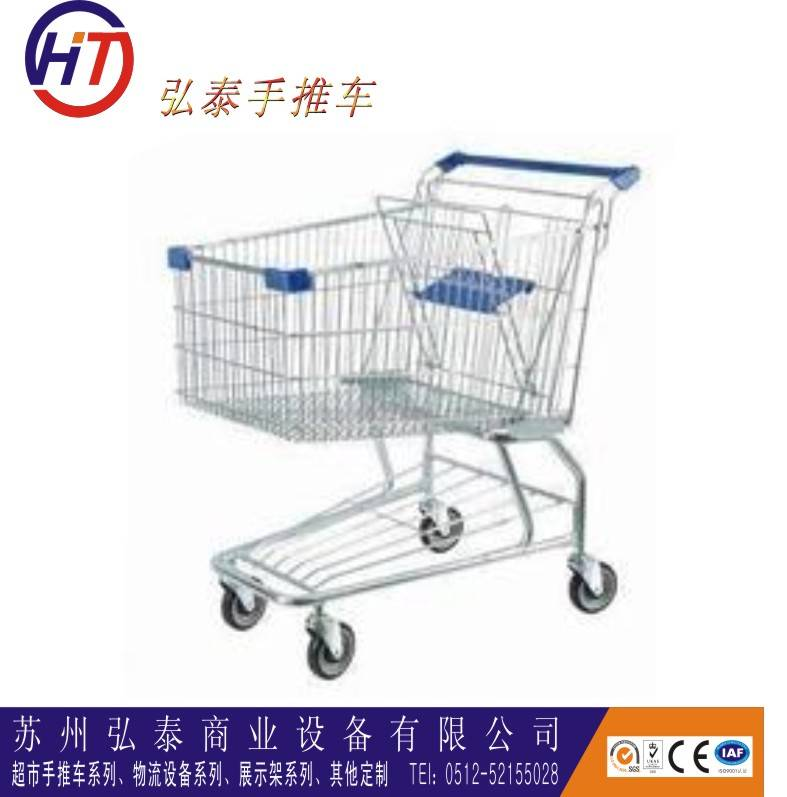Steel material supermarket shopping trolley for the elderly wholesale