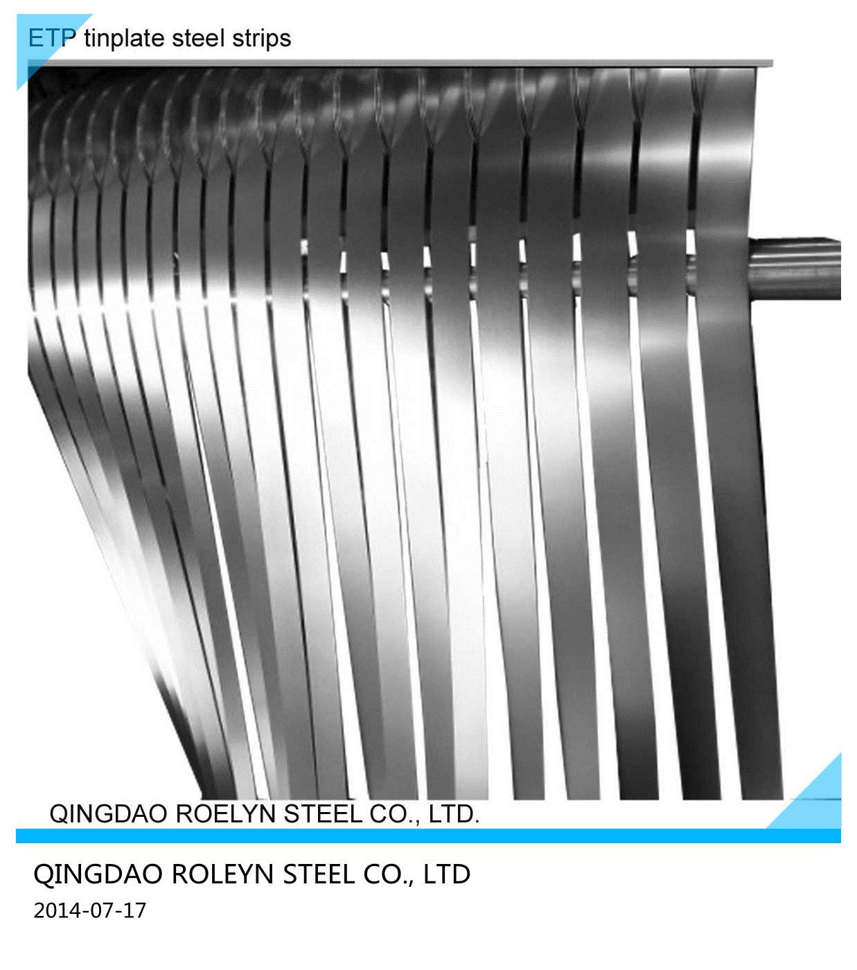 Galvanized steel strips for cable amour