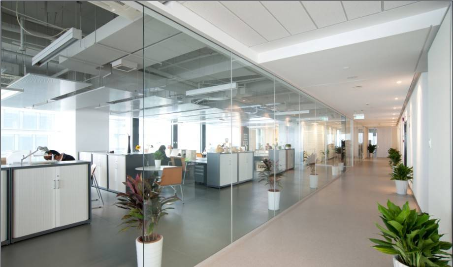 Types of partition walls office cubicle manufacturer double glass aluminium frame partition wall
