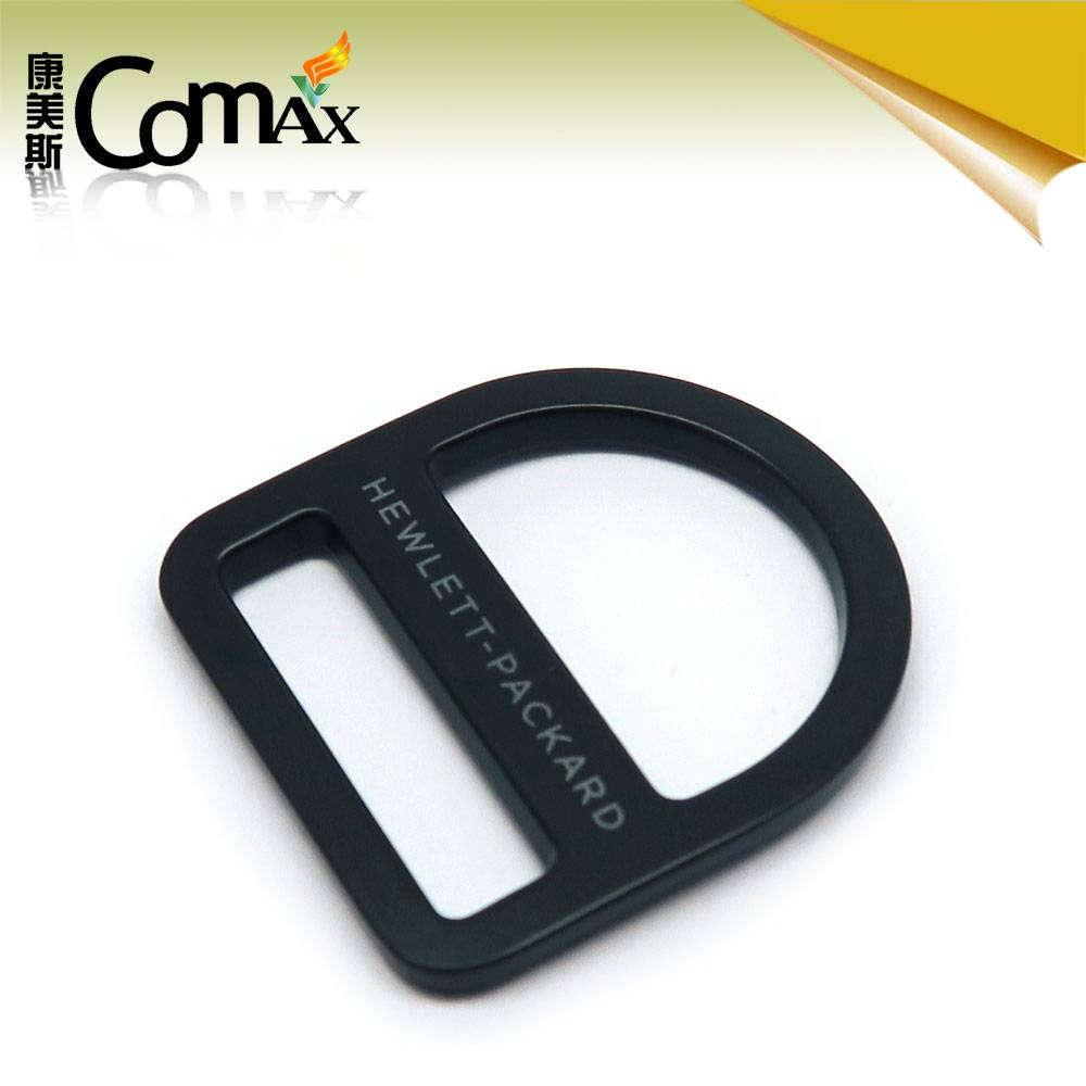 Black custom adjustable metal bag buckle