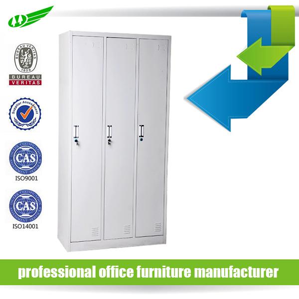 KD Steel 3 Doors Metal Single Tier Ventilated Employee Lockers