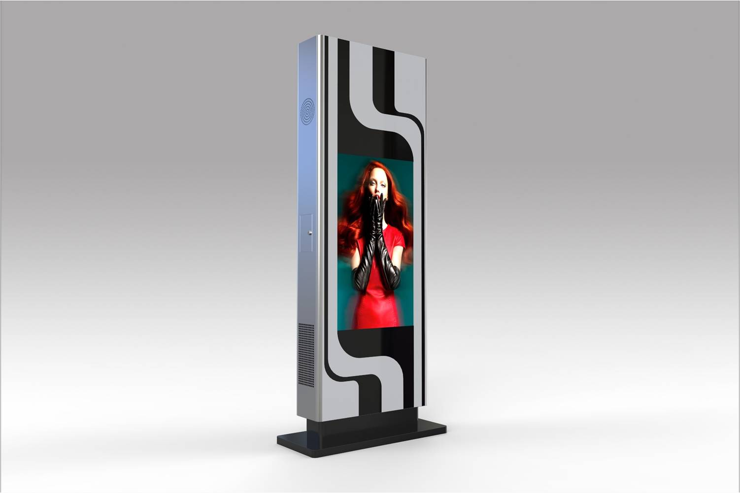 55inch free standing LCD advertising player kiosks with multi-touch Display Boards