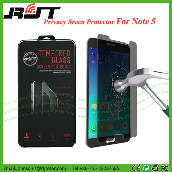 Anti-Spy Tempered Glass Screen Protector for Samsung Note 5 Privacy