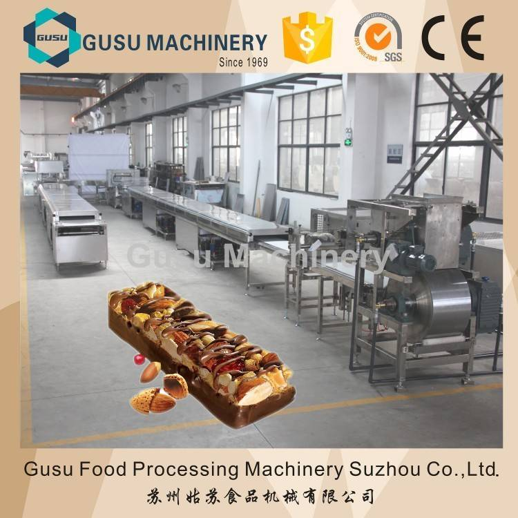 China gusu cereal candy bar forming and cutting line