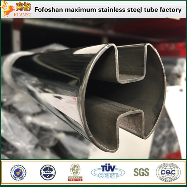 High precision stainless steel slot pipe ss304 tube manufacturer