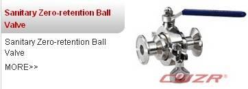 sanitary zero retention ball valve