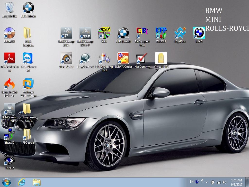 2017-9 BMW ICOM A1 A2 A3 HDD Software Rheingold ISTA