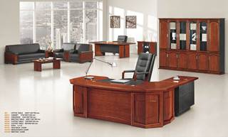 2000*1000*760 sophiscated boss office desk/clerk desk wood/paper veneer surface