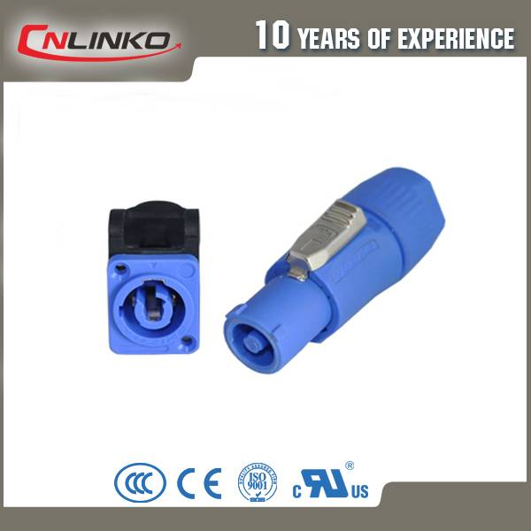 China manufacturer 3 pole powercon cable connector