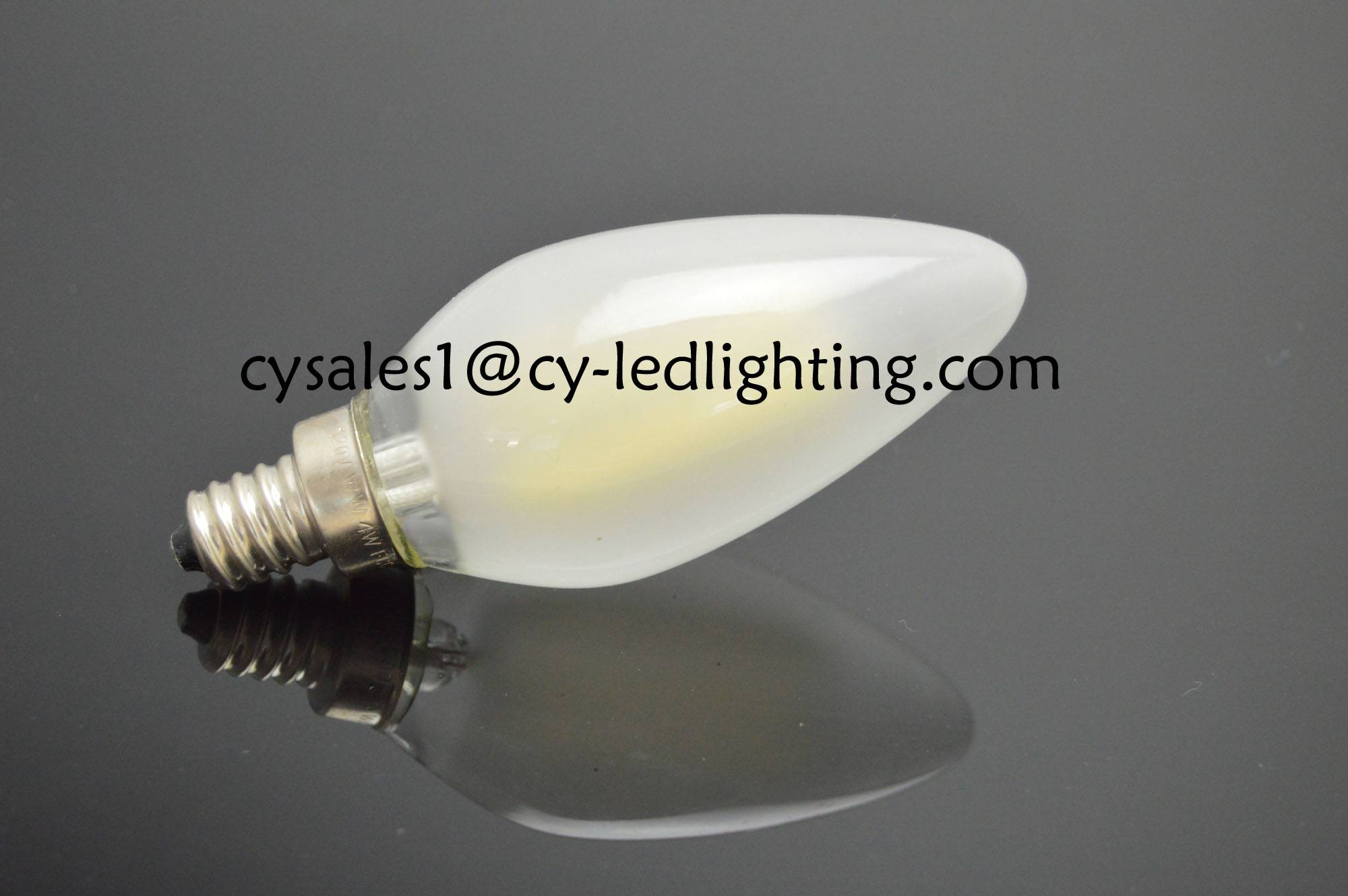 Frosty candle filament led bulb pendant lamp decorated led light bulb