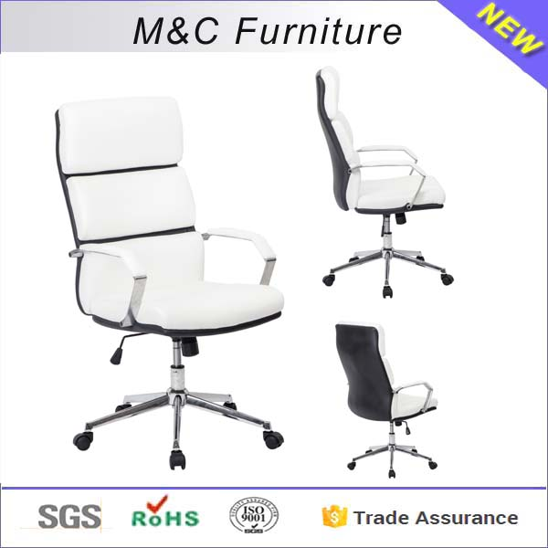 M&C heavy duty executive ergonomic office chair leather modern