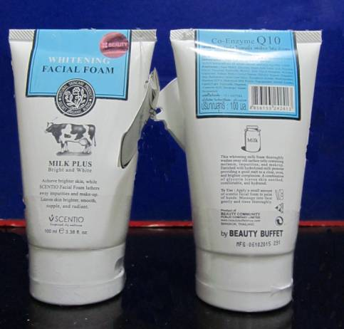 Thailand Beauty Buffet Whitening Facial Foam Milk Plus Bright and White Facial Cleanser