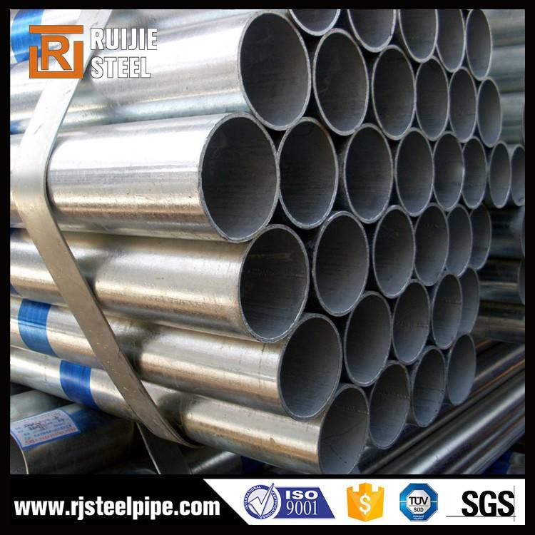 Hot dipped galvanized ERW round steel pipe