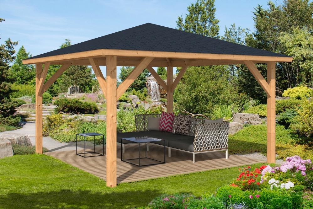 garden outdoor wood frame gazebos