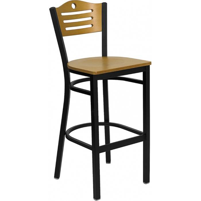 3 slats with circle metal barstool bar furniture bar chair