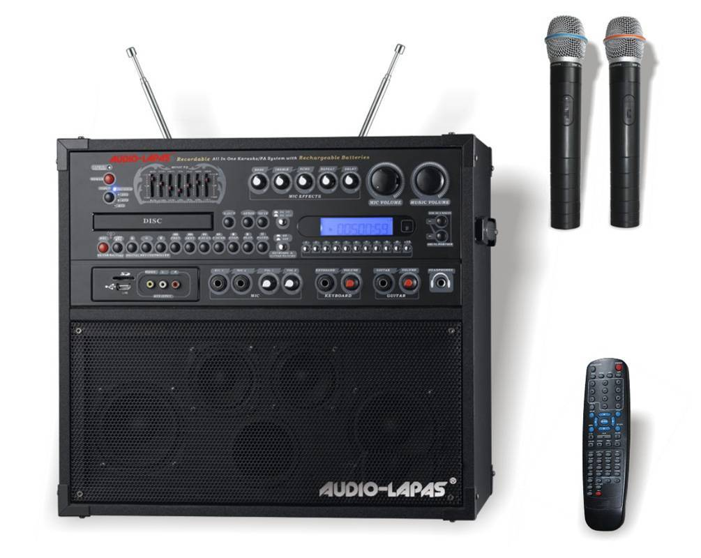 Wireless portable All-in-one karaoke system/PA system