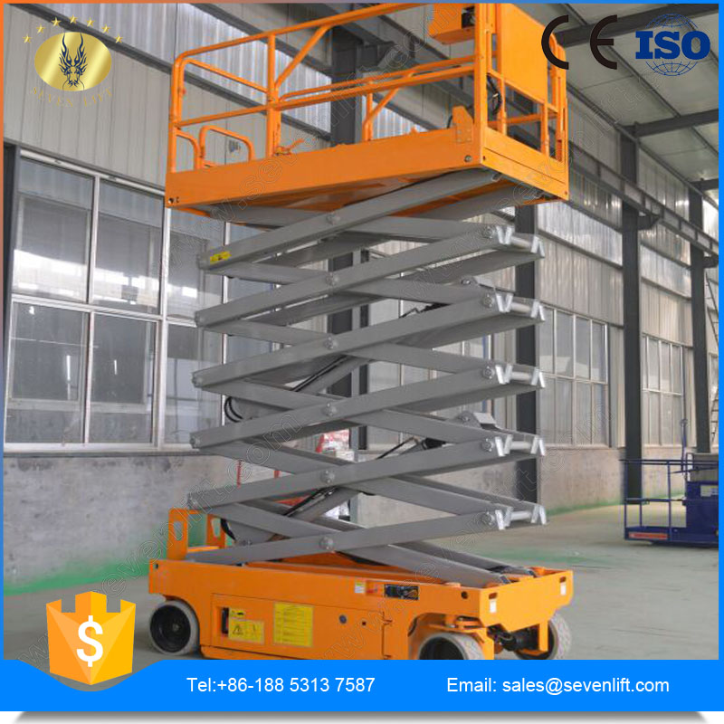 7LGTJZ SevenLift China self-propelled hydraulic high rise work platform