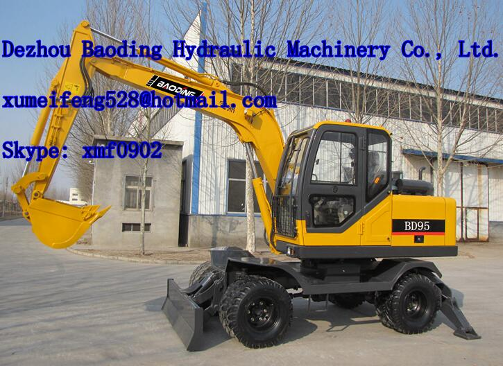 Widely used 9ton small wheel excavator prices